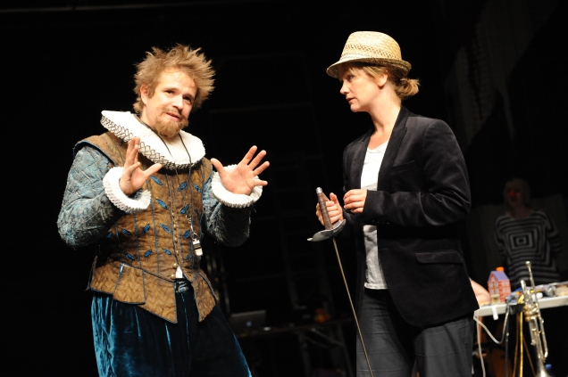 l-r Oliver Dimsdale and Poppy Miller in Filter Theatre Company's 'Twelfth Night' - photo credit Robert Day, DSC_0864.JPG